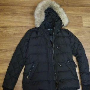 Ralph Lauren black puffer coat with fur trim hood